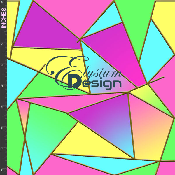 neon multicolour fabric stained glass